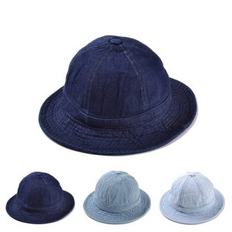 Women Denim Solid Color Bucket Cap Jean Summer Outdoor Visors Fisherman Hat
