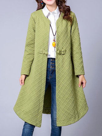 Ethnic Women Vintage Cotton Linen Plaid Cardigans