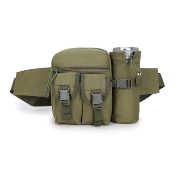 Hunting Men Nylon Tactical Military Crossbody Bag Travel Water Bottle Belt Waist