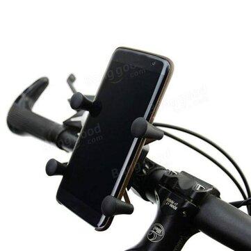 BIKIGHT Soporte de teléfono móvil de bicicleta 360 ° Adjustable X-Grip titular de teléfono de bicicleta de montaña a 5,5 Inch