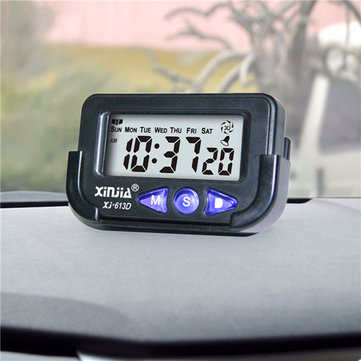 Digital Electronic Car LCD Display Time&Date Alarm Clock Auto Stop Watch Snooze