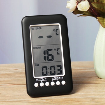 Wireless Refrigerator and Freezer Thermometer Digital Outdoor Indoor Temperature