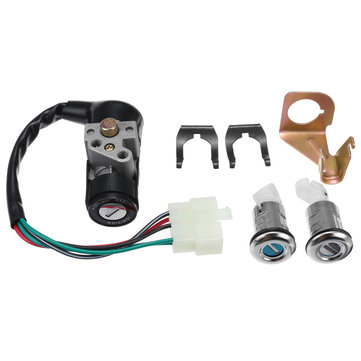 Ignition Switch Key Set 5 Wires For 150cc Roketa Jonway Moped Scooter Gy6 50cc