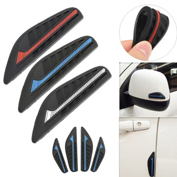 4Pcs Car Rear View Mirror Side Bumper Anti-Rub Door Edge Silicone Strips Sticker