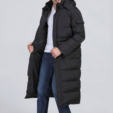 Winter Outdoor Windproof Warm Hood Long Padded Jacket Parka