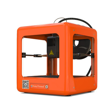 Easythreed® NANO Orange Mini Fully Assembled 3D Printer 90*110*110mm Printing Size Support One Key Printing with CE Certificate/1.75mm 0.4mm Nozzle for Household Education & Students