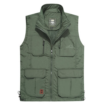 Outdooors Multi Pocket Tactical Functional Photography Fishing Vest Men Sleeveless Coat