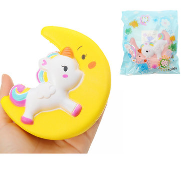 Cartoon Unicorn Moon Pegasus Squishy 19cm Slow Rising With Packaging Collection Gift Soft Toy