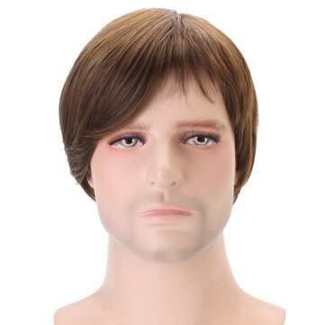 Claybank Men Short Straight Hair Natural Looking Wig