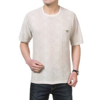 Men's Round Neckline Casual Elderly T-shirts