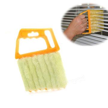 Mini 7 Hand Held Microfiber Venetian Blind Brush Window Air Conditioner Duster Dirt Clean Cleaner
