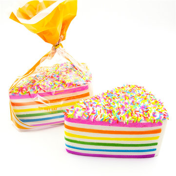 2PCS SquishyFun Jumbo Squishy Rainbow Shortcake Slow Rising Gift Decor Toy