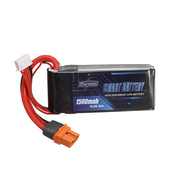 Charsoon BattGo 14.8V 1500mah 80C 4S Smart Lipo Battery XT60i Plug For FPV Racing Drone A-Grade Battery Compatible with ISDT Linker BG-8S T8 Charger