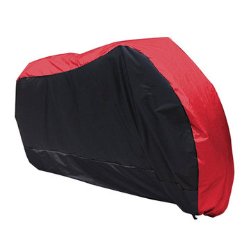 180T Waterproof Motorcycle Cover Outdoor Rain Dust Snow UV Protector 3XL/4XL