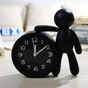 Solid Color Cartoon Small Dolls Table Alarm Clock Creative Cartoon Children Student Bedside Alarm Cl