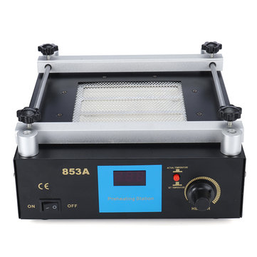YIHUA 853A 220V High Power ESD BGA Rework Station PCB Preheat & Desoldering IR Preheating Station