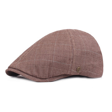 Men Summer Adjustable Beret Hat Outdoor Cabbie Flat Cap
