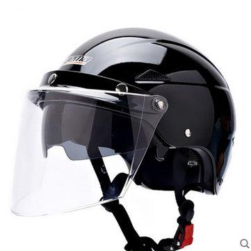 Motorcycle Scootor Summer Dual Lens Anti-UV Portable Helmet