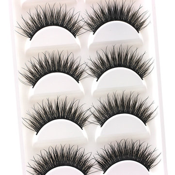 5 Pairs Charming Thick Black False Eyelashes Long Extension