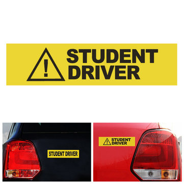 Student Driver Car Stickers Safety Caution Warning Sign Magnet Reflective Decal
