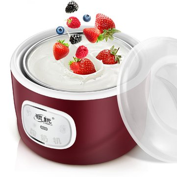 4 Glass Jars Automatic Yogurt Machine Rice Wine Machine Yogurt Maker Kitchen Electric Tools Rice Cooker CN Plug With Adapter