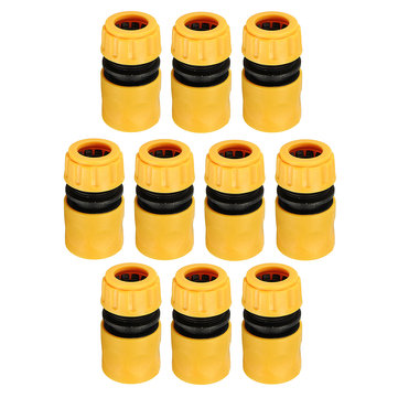 10Pcs 1/2 Inch Water Pipe Joint Quick Connectors Pipe Connector Repair Joint For Garden Hose Fitting