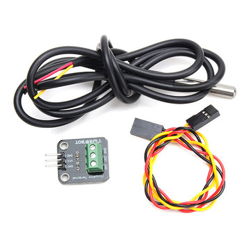 3Pcs DS18B20 Temperature Sensor Module Kit Waterproof Electronic Building Block For Arduino