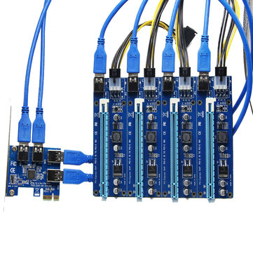 PCI-E 1 to 4 Ports USB 3.0 PCI Express Slot Power Expansion Card Adapter Board (1258242) photo