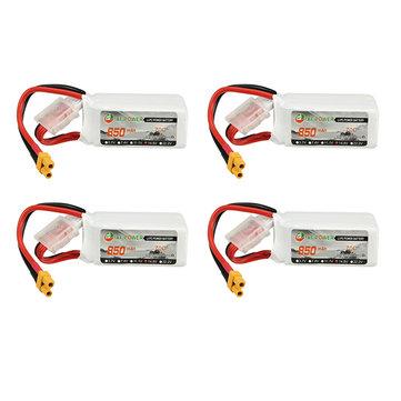4Pcs XF Power 14.8V 850mAh 4S 70C Lipo Battery XT30 Plug