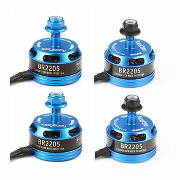 4X Racerstar Racing Edition 2205 BR2205 2300KV 2-4S Brushless Motor Light Blue For 210 X220 250 280 RC Drone