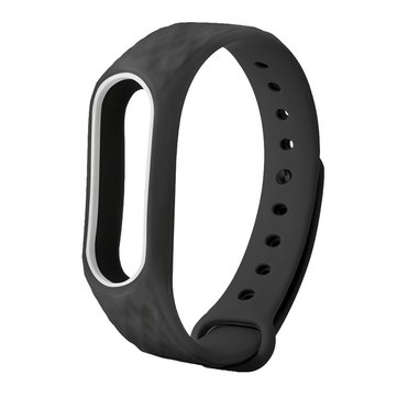 Replacement Double Colour Diamond Pattern Wrist Watch Band for XIAOMI Miband2