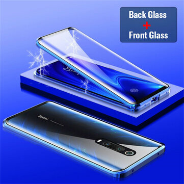Bakeey 360º Curved Screen Front+Back Double-sided Full Body 9H Tempered Glass Metal Magnetic Adsorption Flip Protective Case For Xiaomi Mi 9T / Xiaomi Redmi K20 / Redmi K20 PRO