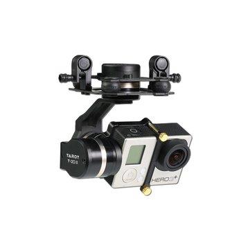 Tarot GOPRO 3DⅢ me<x>tal CNC Sin Escobillas Gimbal de 3 Ejes PTZ para GOPRO 4 3+ 3 FPV RC Drone TL3T01