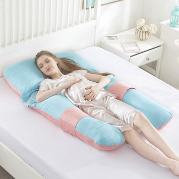 Pregnant Women Sleeping Pillow U-Shaped Multifunctional Pillow for Pregnant Women Soft Waist and Feet Pillow Back Cushion