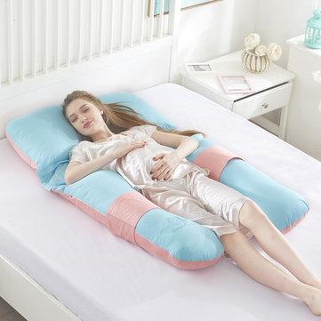 Pregnant Women Sleeping Pillow U-Shaped Multifunctional Pillow for Pregnant Women Soft Waist and Feet Pillow Back Cushion