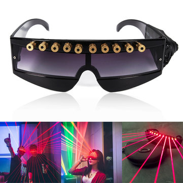 5MW 650nm Stage Red Laser Glasses Cool DJ Laser Glasses for Laser Pointer
