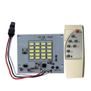 DC3.7V 10W LED Remote Control DIY White Light Source Chip for Light-controlled Solar Light