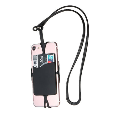 Necklace Lanyard Silicone Strap Card Slot Phone Cover for Phone 3.5
