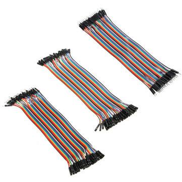 120uds Cable Jumper de Tablero de Circuitos de 20cm Colorido Combinación de Alambre Dupont para Arduino