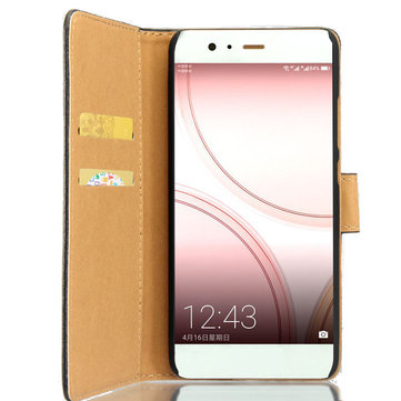 Flip PU Leather Wallet Card Slot Stand Protector Case For Huawei P10