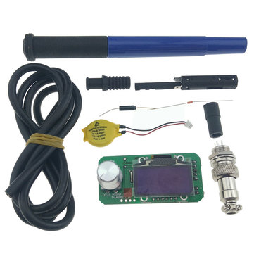 KSGER V2.0 Temperature STM32 OLED Screen Controller 9501 Soldering Handle Set 5Core Silicone Wire with Battery