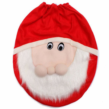 Bathroom Happy Santa Claus Toilet Seat Cover Christmas Decorations