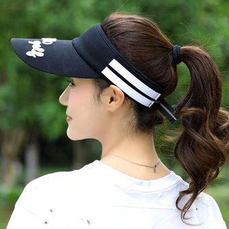 Mens Womens Stripe Visor Super Absorbent Breathable Baseball Hat Best for Tennis Golf Running