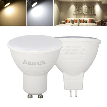 ARILUX® GU10 MR16 7W SMD2835 474LM Pure White Warm White LED Corn Spotlight Bulb for Home AC220V