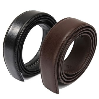 Men Second Floor Cowhide Black Brown Belt Body Without Buckle Length Randomly