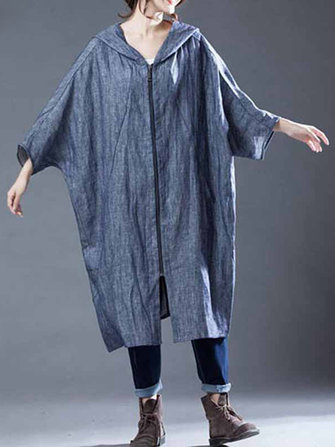 M-5XL Casual Women Hooded Cotton Coats