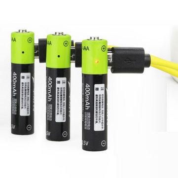 ZNTER S17 1.5V 400mAh USB Rechargeable AAA Lipo Battery