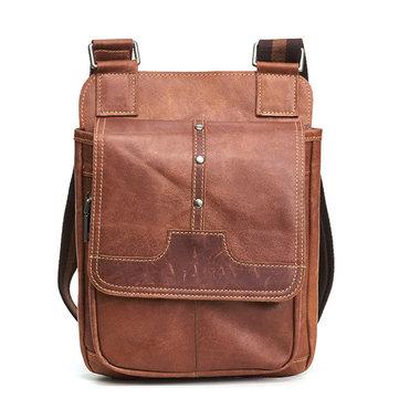 Genuine Leather Brown Vintage Messenger Bag