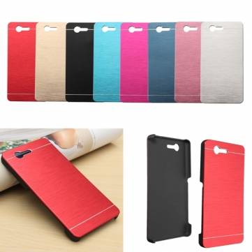 Colorful Ultra Thin Brushed Metal Hard Cover Case For Sony Xperia Z3 Compact