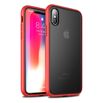 Bakeey Frosted Anti Fingerprint Transparent PC+TPU Protective Case For iPhone X